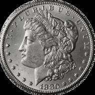 1880-CC Morgan Silver Dollar Brilliant Uncirculated - BU