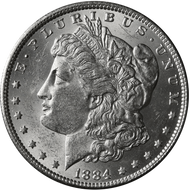 1884-P Morgan Silver Dollar Brilliant Uncirculated - BU