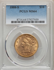 1888-S $10 Gold Liberty PCGS MS64