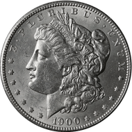 1900-O Morgan Silver Dollar Brilliant Uncirculated Circulated - BU