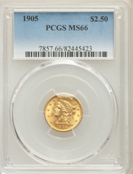 1905 $2.5 Gold Liberty PCGS MS66 - HAT737066004