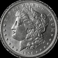 1904-P Morgan Silver Dollar BU