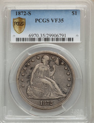 1872-S S$1 Seated Liberty Dollar PCGS VF35
