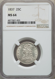 1837 25c Capped Bust Quarter NGC MS64