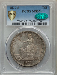 1877-S T$1 Trade Dollar PCGS MS65+ CAC