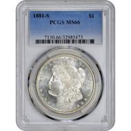 Pre-21 Morgan Silver Dollar PCGS MS66