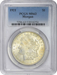 1921-P Morgan Silver Dollar PCGS MS63