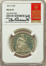 1877-S 50c Seated Liberty Half Dollar NGC MS66 PL