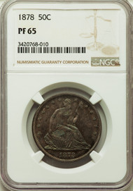 1878 50c Seated Liberty Half Dollar NGC PF65
