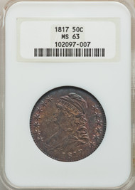 1817 50c Capped Bust Half Dollar NGC MS63