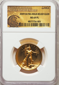 2009 $20 Ultra High Relief Double Eagle NGC MS69PL