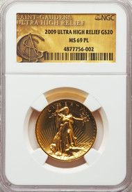 2009 $20 Ultra High Relief Double Eagle NGC MS69PL - 737544008