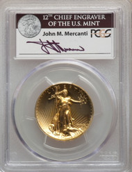 2009 $20 Ultra High Relief Double Eagle PCGS MS70 John Mercanti Signed - 739485001