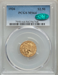 1926 $2.5 Gold Indian PCGS MS64 CAC