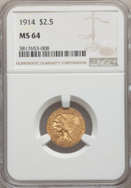 1914 $2.5 Gold Indian NGC MS64 - 739407006