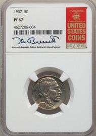 1937 5c Buffalo Nickel NGC PF67