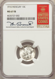 1916 10c Mercury Dime NGC MS67FB - 731051030