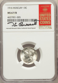 1916 10c Mercury Dime NGC MS67FB - 731586109