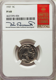 1937 5c Buffalo Nickel NGC PF68
