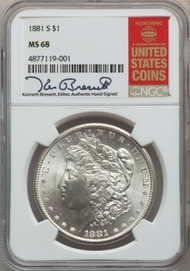 1881-S S$1 Morgan Dollar NGC MS68 - 736886001