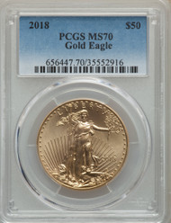 2018 $50 Gold Eagle PCGS MS70