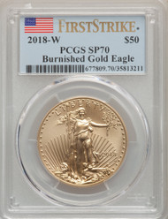2018-W $50 Burnished Gold Eagle PCGS SP70 First Strike - 738884029