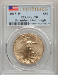 2018-W $50 Burnished Gold Eagle PCGS SP70 First Strike - 738884030