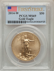 2014-W $50 Burnished Gold Eagle PCGS MS69 First Strike