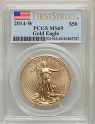 2014-W $50 Burnished Gold Eagle PCGS MS69 First Strike - 739575004