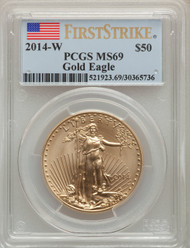 2014-W $50 Burnished Gold Eagle PCGS MS69 First Strike - 739575005