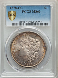 1878-CC S$1 Morgan Dollar PCGS MS63 - 301006016