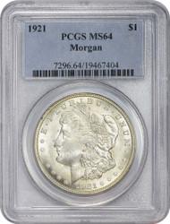 1921-P Morgan Silver Dollar PCGS MS64
