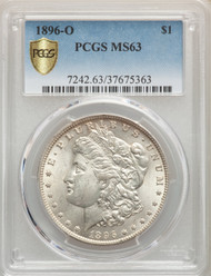 1896-CC S$1 Morgan Dollar PCGS MS63