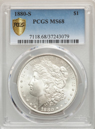 1880-S S$1 Morgan Dollar PCGS MS68 - 739855009
