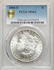 1896-S S$1 Morgan Dollar PCGS MS64 - 739855016