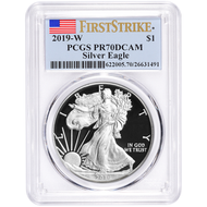2019 American Silver Eagle PCGS PR70 First Strike