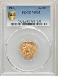 1927 $2.5 Gold Indian PCGS MS65 - 739469014