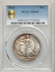 1920 50c Walking Liberty Half Dollar PCGS MS65 - 739882008