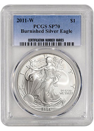 2011-W Burnished Silver Eagle PGCS SP70