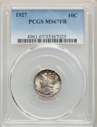 1927 10c Mercury Dime PCGS MS67FB