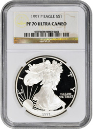 1997-P American Silver Eagle Proof - NGC PF70 UCAM