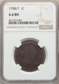 1798/7 1c Large Cent NGC G6BN