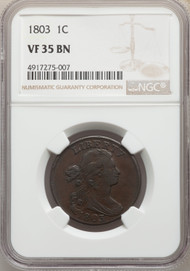 1803 1c Large Cent NGC VF35BN