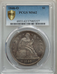 1846-O S$1 Seated Liberty Dollar PCGS MS62
