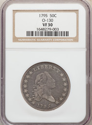 1795 50c Flowing Hair Half Dollar NGC VF30 O-130