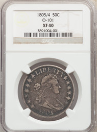 1805/4 50c Flowing Hair Half Dollar NGC XF40 O-101