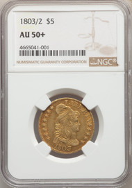 1803/2 $5 Gold Capped Bust NGC AU50+