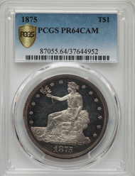 1875 T$1 Trade Dollar PCGS PR64CAM