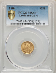 1904 G$1 Lewis and Clark Gold PCGS MS65+