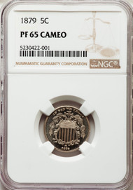1879 5c Shield Nickel NGC PF65 CAMEO